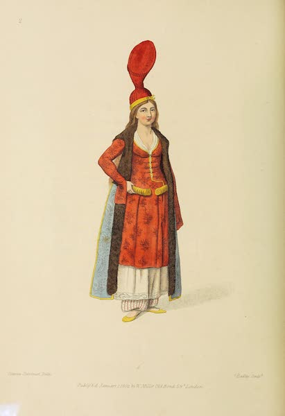 The Costume of Turkey - A Sultana, or Odalisk (1802)