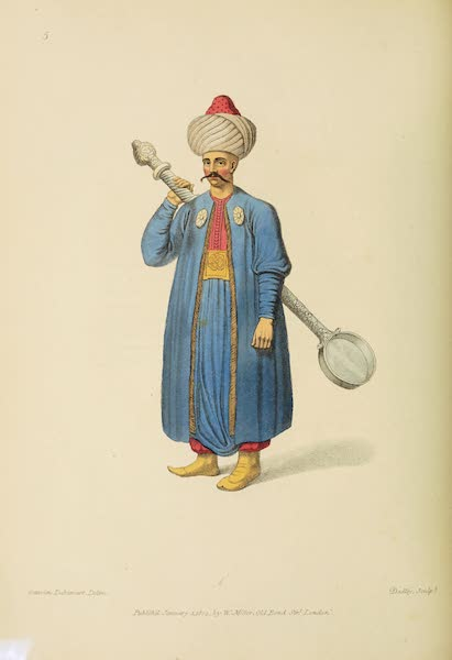 The Costume of Turkey - Ladle-Bearer to the Janissaries (1802)