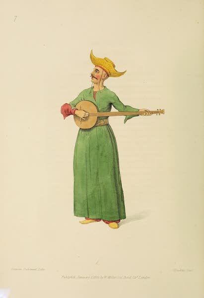 The Costume of Turkey - A Musician belonging to the Grand Signior (1802)