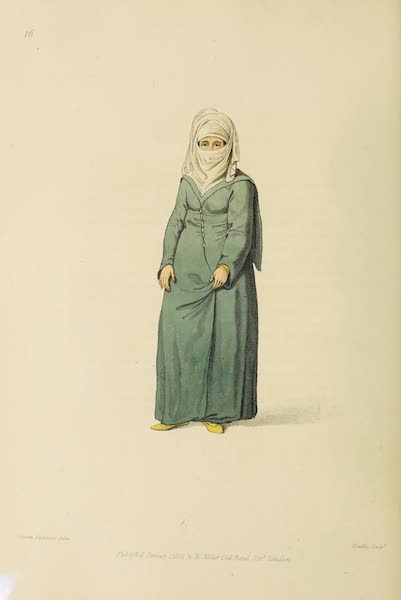 The Costume of Turkey - A Turkish Woman, in the Dress, Worn at Constantinople (1802)