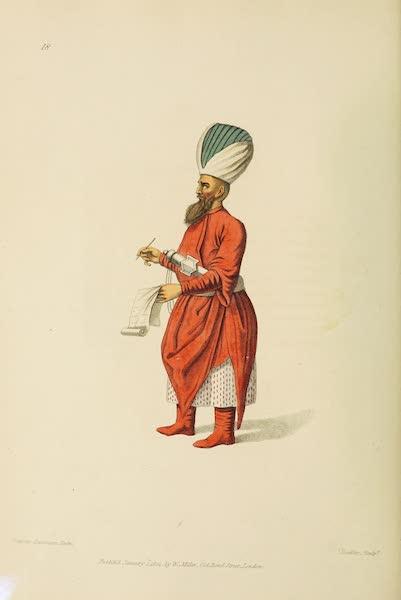 The Costume of Turkey - Subaltern Officer of the Jannissaries (1802)