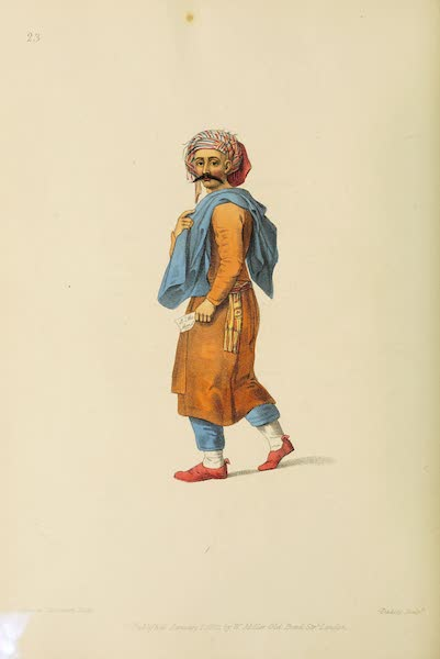 The Costume of Turkey - An Inhabitant of the Coast of Syria (1802)
