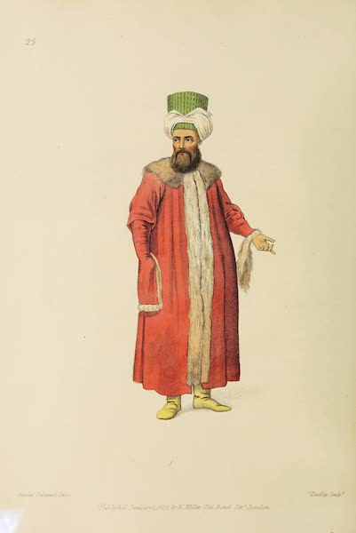 The Costume of Turkey - A Turk in a Pelise (1802)