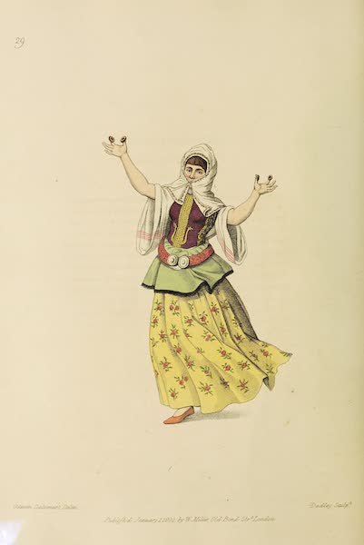 The Costume of Turkey - A Female Dancer at Constantinople (1802)