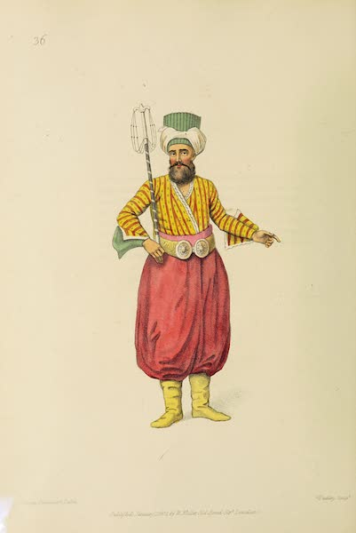 The Costume of Turkey - An Usher (1802)