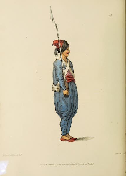The Costume of Turkey - A Soldier (1802)