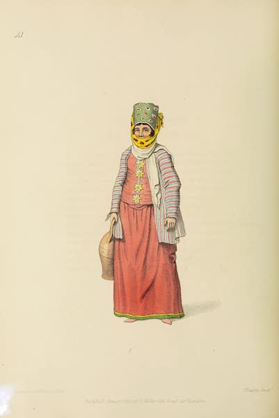 The Costume of Turkey - An Inhabitant of the Isle of Simia (1802)