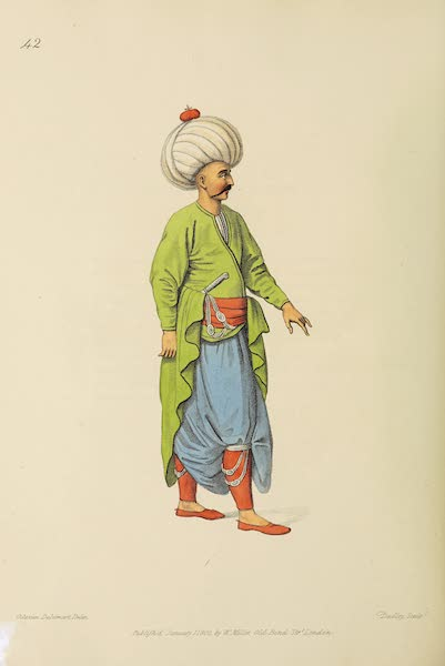 The Costume of Turkey - An Inferior Officer of the Janissaires (1802)