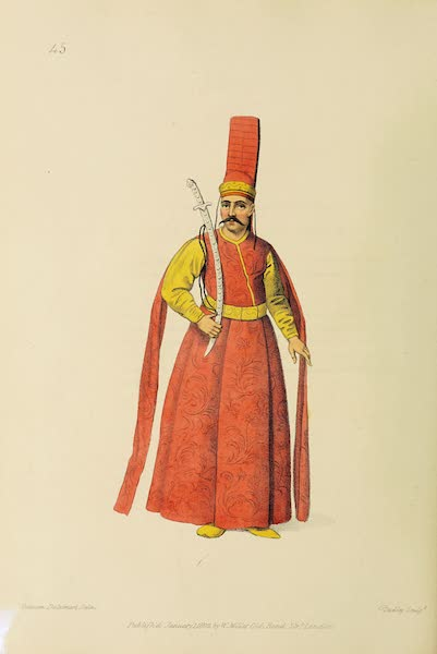 The Costume of Turkey - Sword Bearer to the Grand Signior (1802)