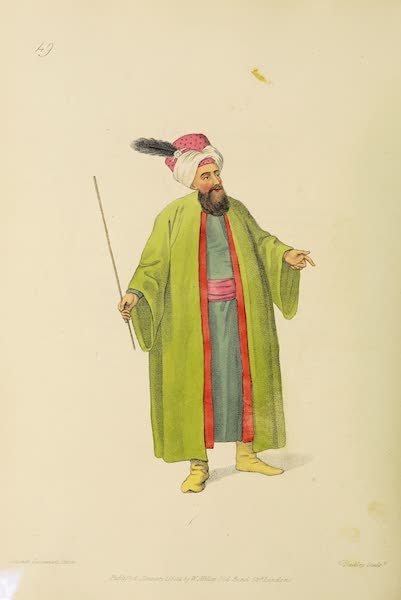 The Costume of Turkey - The Chief Usher to the Grand Signior (1802)