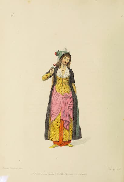 The Costume of Turkey - A Sultana, or Kaddin (1802)