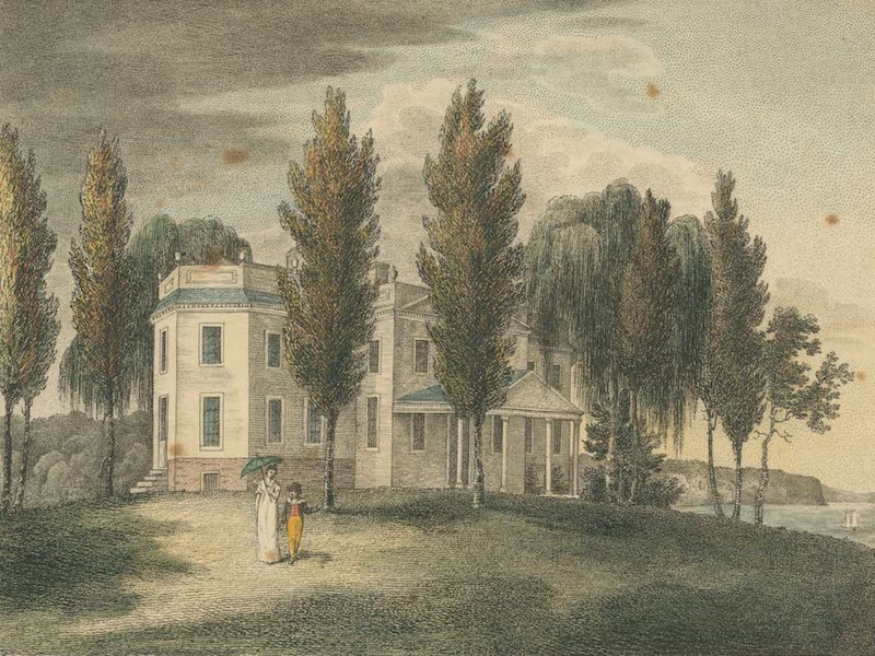 The Country Seats of the United States - Hoboken in New Jersey, the Seat of Mr. John Stevens (1808)