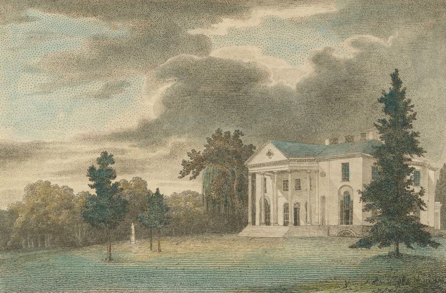 The Country Seats of the United States - Woodlands the Seat of Mr. William Hamilto, Pennsylvania (1808)