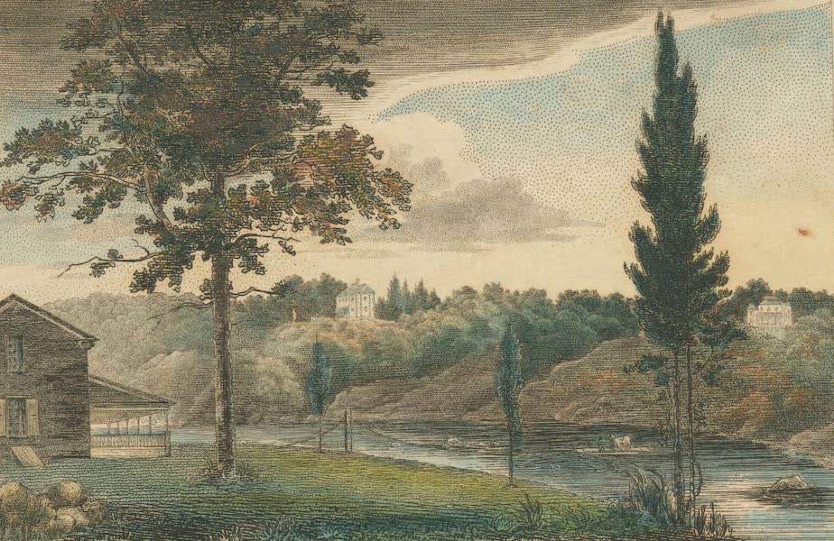 The Country Seats of the United States - Mendenghall Ferry, Schuylkill, Pennsylvania (1808)