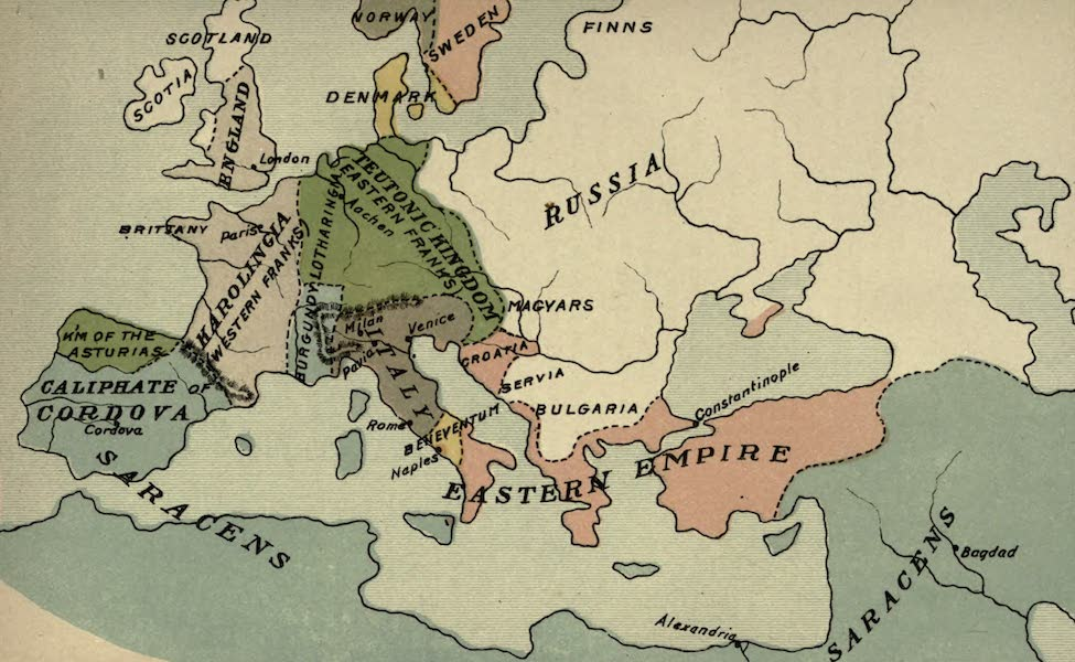 The Course of Empire - End of the Ninth Century (about A.D. 900) (1883)