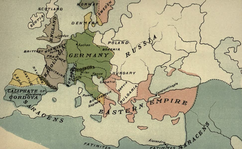 The Course of Empire - End of the Tenth Century (about A.D. 1000) (1883)
