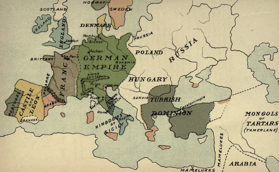 The Course of Empire - End of the Fourteenth Century (about A.D. 1400) (1883)