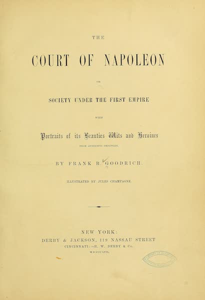The Court of Napoleon - Title Page (1857)