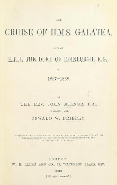 The Cruise of H.M.S. Galatea - Title Page (1869)