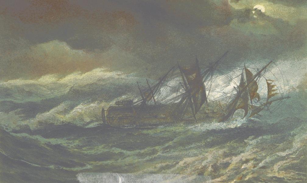 The Cruise of H.M.S. Galatea - H.M.S Galatea in a Cyclone. October 12th, 1867 (1869)