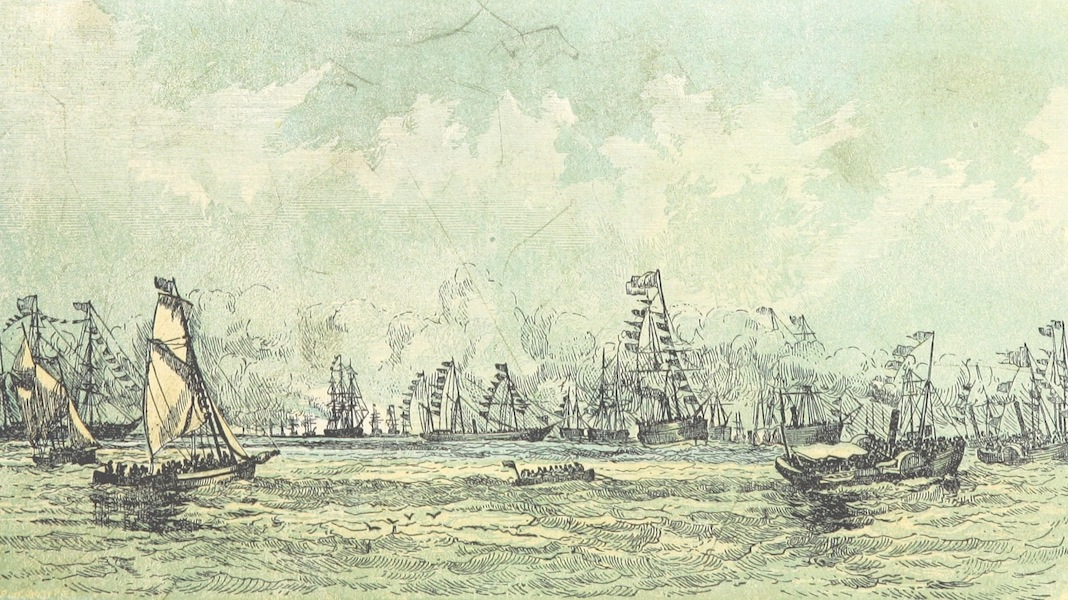 The Cruise of H.M.S. Galatea - Vessels Waiting for the Arrival of H.M.S Galatea in Hobsons Bay, Victoria (1869)