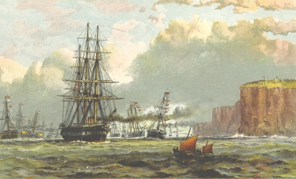 The Cruise of H.M.S. Galatea - Arrival of H.M.S Galatea off Sydney Heads. January 21st, 1868 (1869)