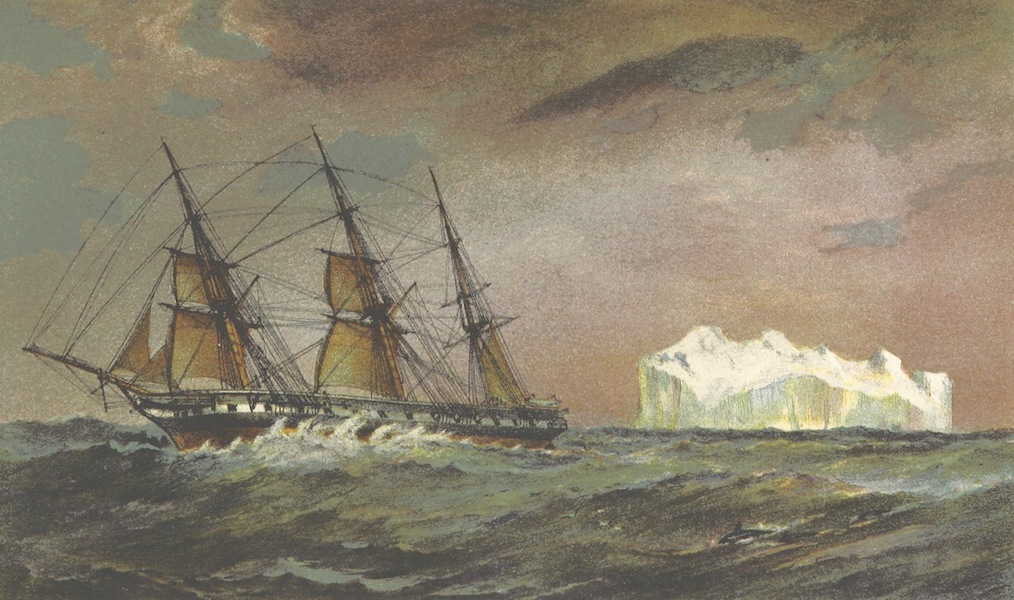 The Cruise of H.M.S. Galatea - Ice-Berg Seen 23rd April 1868 Lat. 55 20 S., Long. 110 56 W (1869)