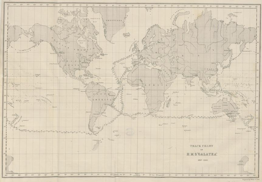 The Cruise of H.M.S. Galatea - Track Chart of H.M.S Galatea 1867-1868 (1869)