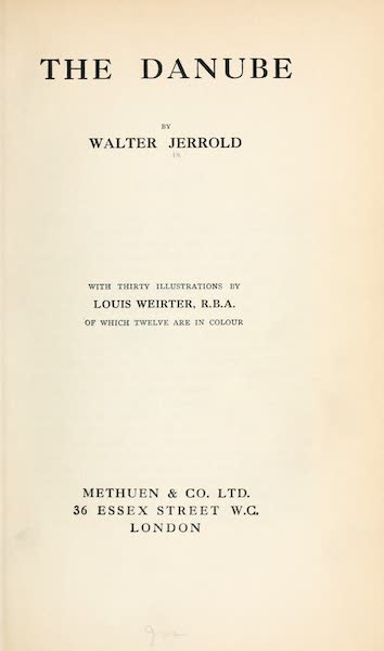 The Danube - Title Page (1911)