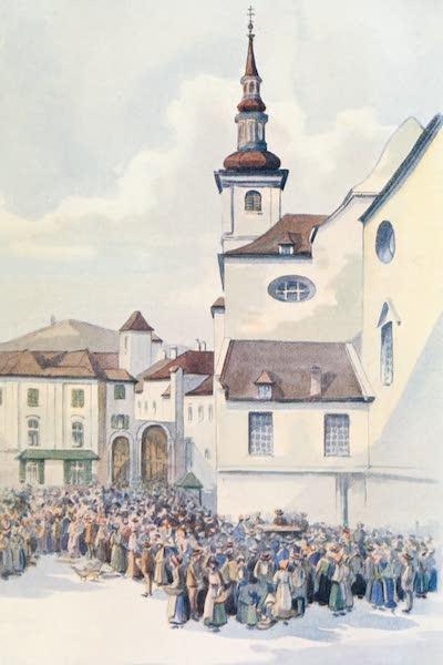 The Danube - The Market Place, Krems (1911)