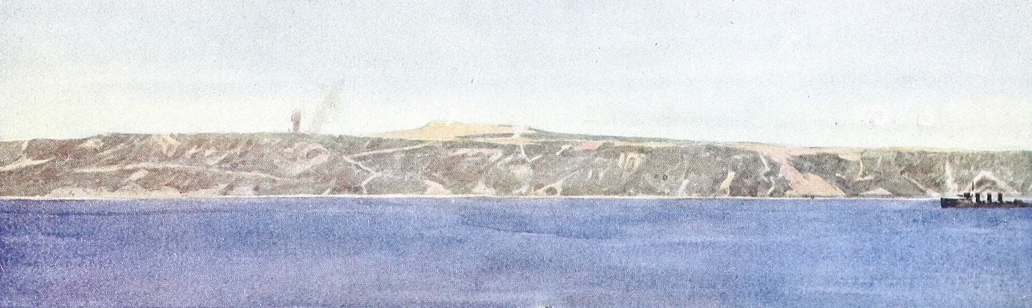 The Dardanelles : Colour Sketches from Gallipoli - Off the Left Flank at Helles (1915)