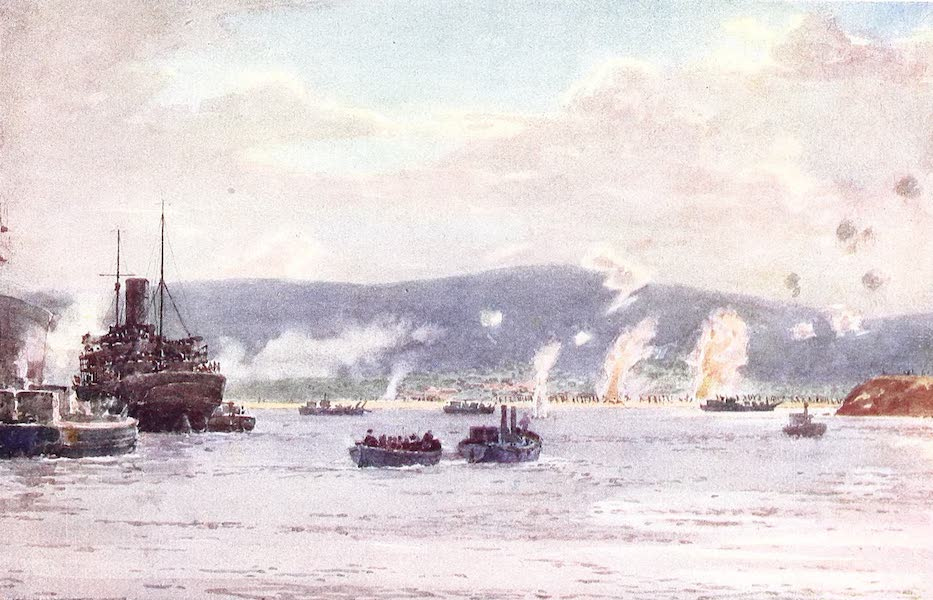 "The Dardanelles : Colour Sketches from Gallipoli - Landing at ""A"" Beach, August 7, 5.30 A.M. (1915)"
