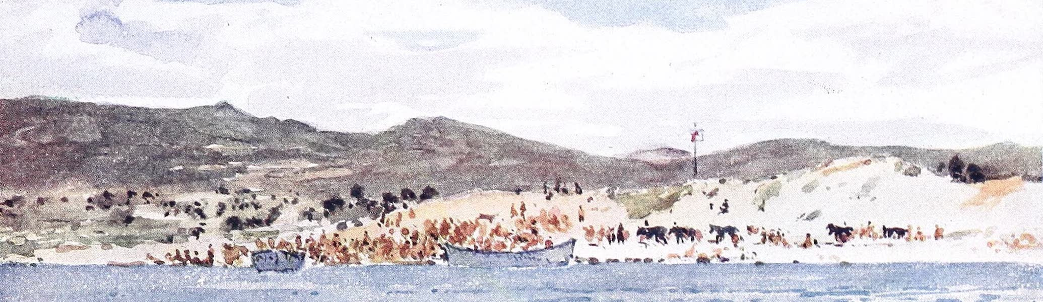 "The Dardanelles : Colour Sketches from Gallipoli - Dressing Station - ""A"" Beach (1915)"