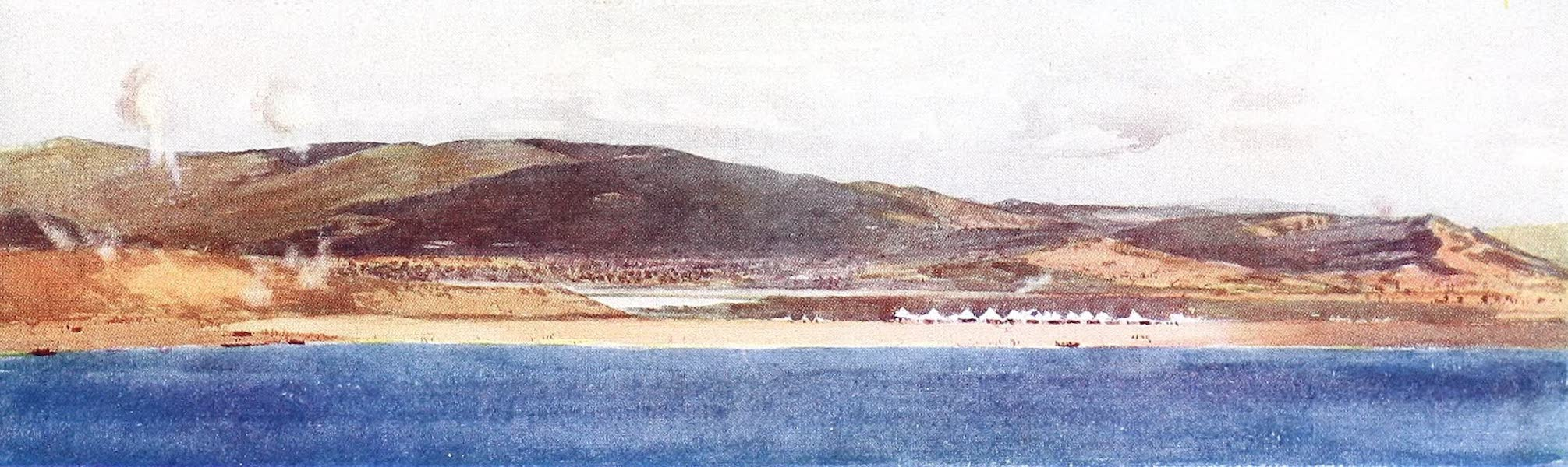 The Dardanelles : Colour Sketches from Gallipoli - Looking Towards the Village of Anafarta (1915)