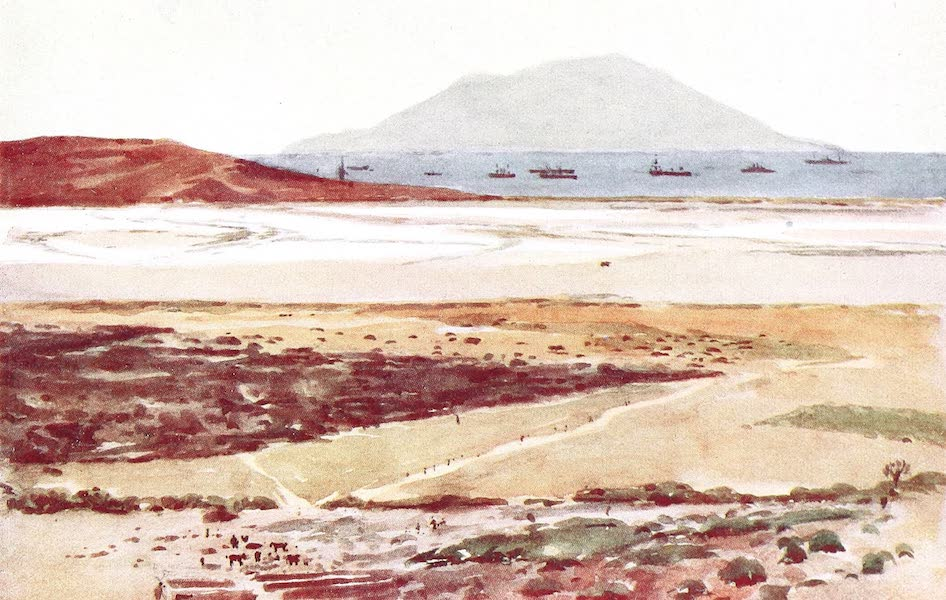 The Dardanelles : Colour Sketches from Gallipoli - Salt Lake from Chocolate Hill (1915)