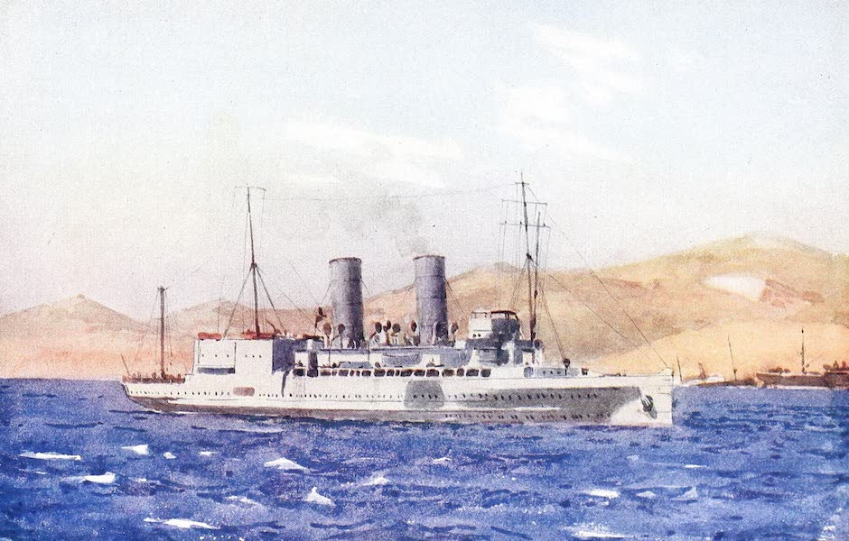 The Dardanelles : Colour Sketches from Gallipoli - H.M.S. Ben-my-chree at Kephalo (1915)