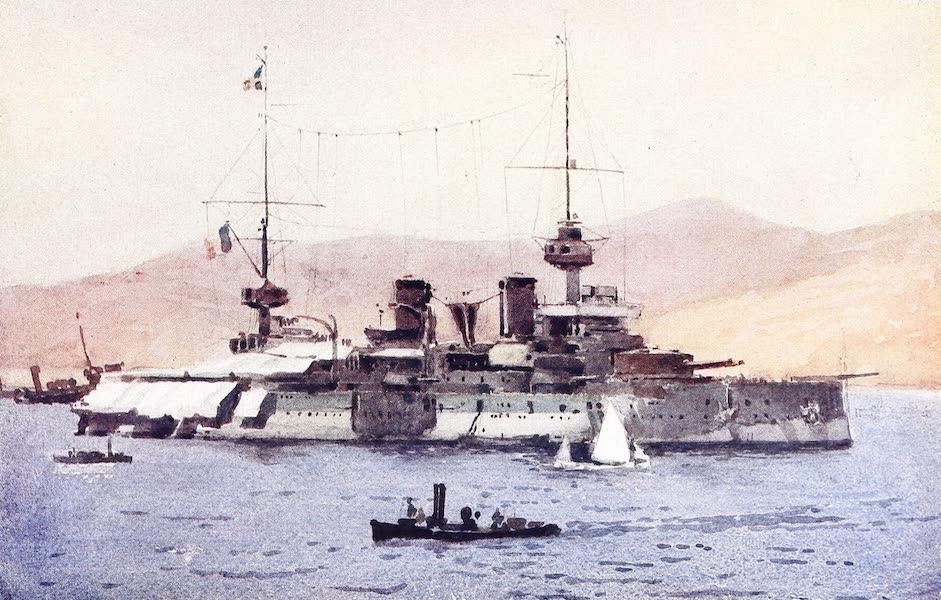 The Dardanelles : Colour Sketches from Gallipoli - French Flagship Suffren (1915)