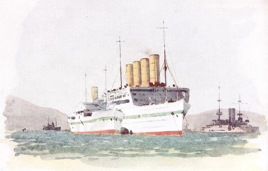 The Dardanelles : Colour Sketches from Gallipoli - Hospital Ship Aquitania (1915)