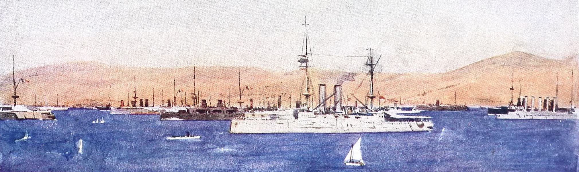 The Dardanelles : Colour Sketches from Gallipoli - Mudros Harbour (1915)
