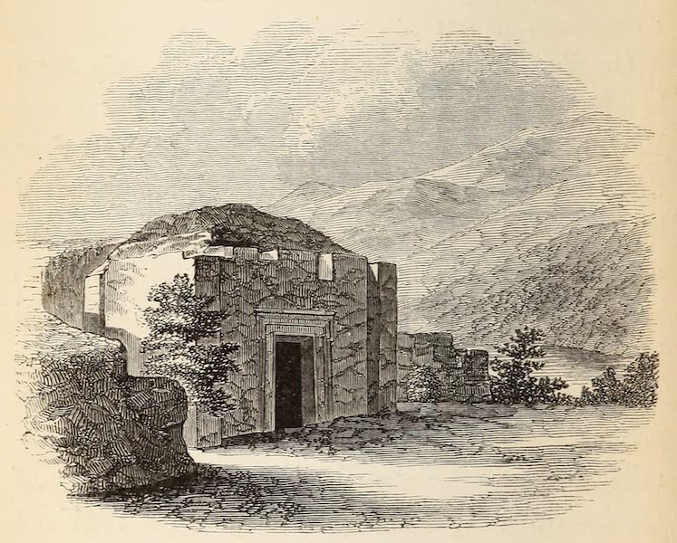 The Dead Sea, a New Route to India Vol. 1 - Rock Tomb at Antiphellus (1855)