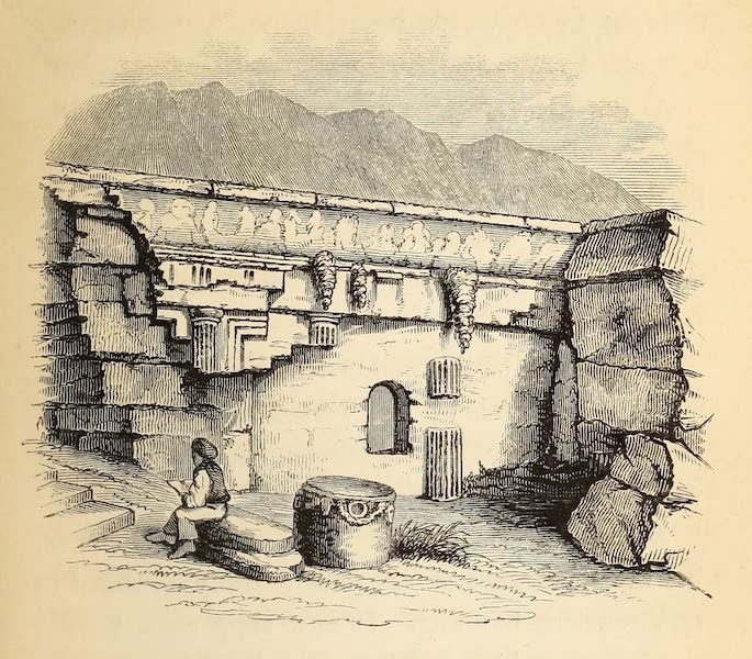 The Dead Sea, a New Route to India Vol. 1 - A Rock Tomb at Lindus, Rhodes (1855)