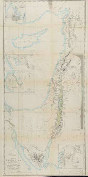 The Dead Sea, a New Route to India Vol. 1 - Map of Palestine with Portions of Syria (1855)