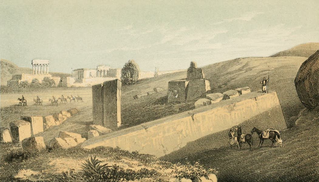 The Dead Sea, a New Route to India Vol. 2 - Baalbec from the Quarry (1855)