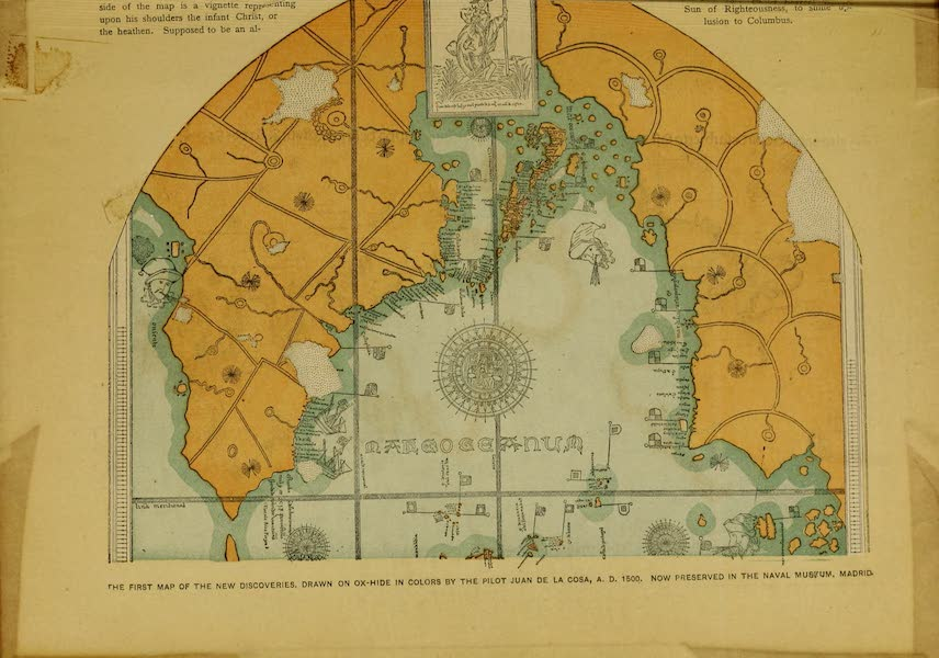 The Discovery and Conquest of the New World - The First Map of the New Discoveries (1892)