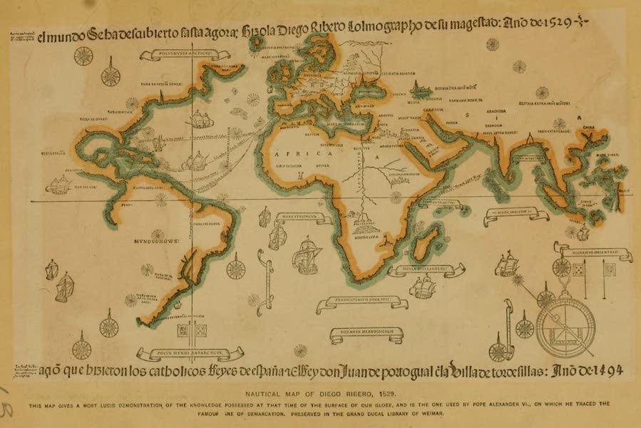 Nautical Map of Diego Ribero (1529)