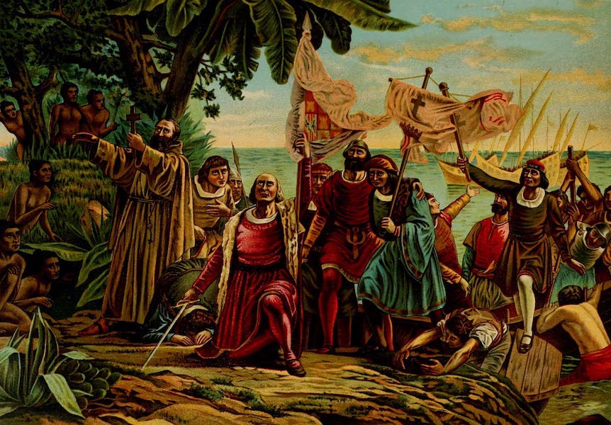 The Landing of Columbus on the Island of Guanahane, October 12th, 1492