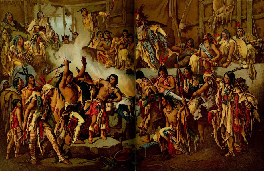 The Renowned Pocohontas, Daughter of Powhatan, Saves the Life of Captain John Smith