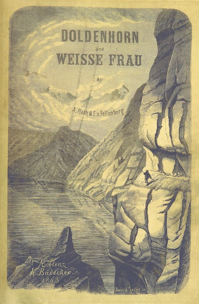 The Doldenhorn and Weisse Frau - Illustrated Title Page (1863)
