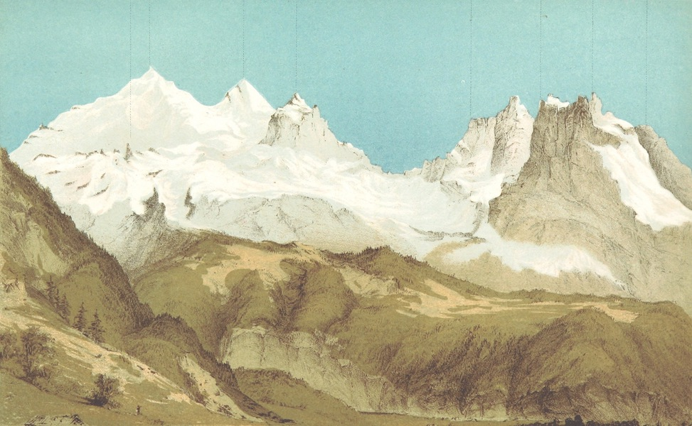 The Doldenhorn and Weisse Frau - Doldenhorn - Group from Kandersteg (1863)