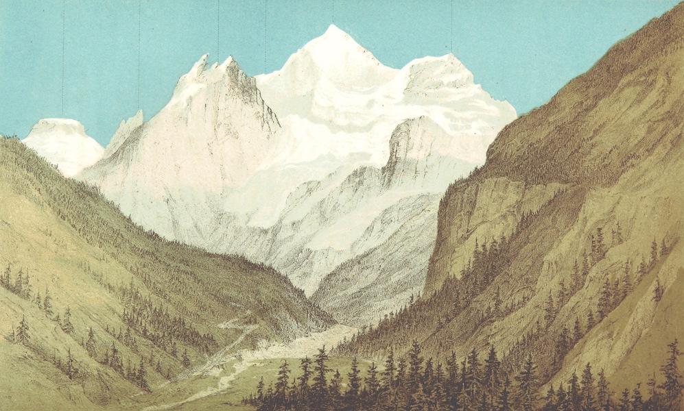 The Doldenhorn and Weisse Frau - The Blumlisalp from Kandersteg (1863)